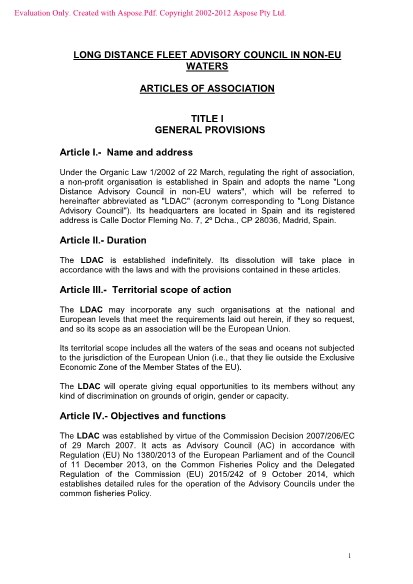 Articles of association_LDAC_2016
